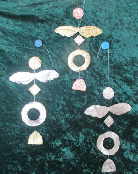 Engel aus Metallfolie